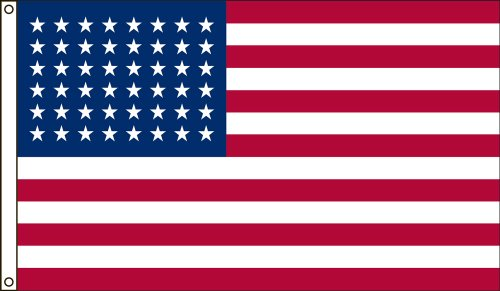America's Flag Company 3-Foot by 5-Foot Nylon 48 Star United States Historical Flag with Canvas Header and Grommets
