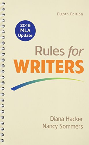 Rules for Writers 8e with 2016 MLA Update & Writer's Help 2.0 (Twelve Month Access)
