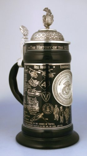 U.S Marine Corps History Stein (Item Number: 6326) by Cornell