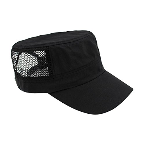Back Cadet Cap - Fashionable Solid Color Unisex Cadet Cap Baseball Cap Sun Hat Mesh Back