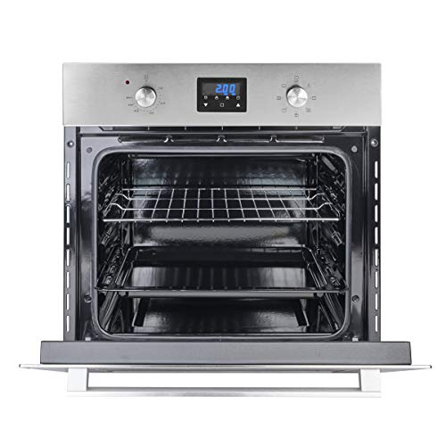 Wall Oven, Gasland chef ES609DS 24″ Built-in Single Wall Oven, 9 Cooking Function, Stainless Steel Electric Wall Oven With Cooling Down Fan, 3 Layer Glass, ETL Safety Certified & Easy To Clean