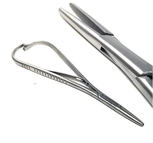 """HTI BRAND Mathieu Pliers 5.5"""" (14cm) Needle Holder Driver, Ligature Separator Placer, Orhtodontic Pliers, Lace Back Tightener (Pack of 1)"""