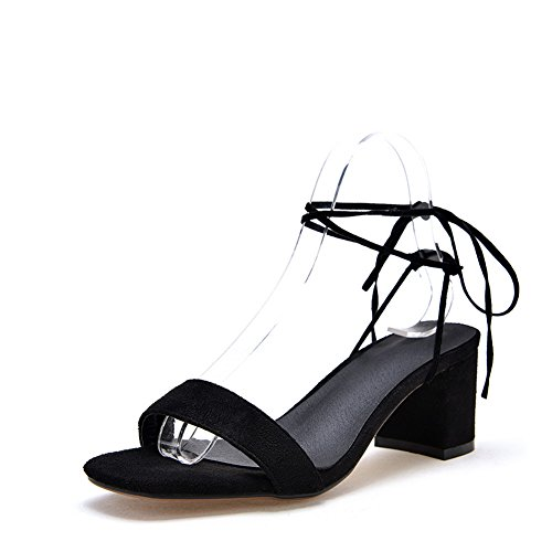 MJS03202 Black Marking Huarache Sandals Dress 1TO9 Womens Non Urethane 06vzpxq8