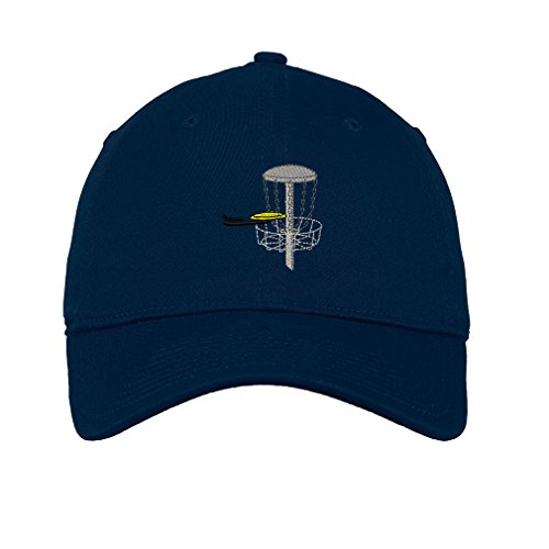 Disc Golf Twill Cotton 6 Panel Low Profile Hat Navy (Cap Cotton Golf Panel Twill)