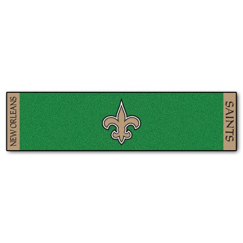 FANMATS NFL New Orleans Saints Nylon Face Putting Green - Nfl Mat Runner