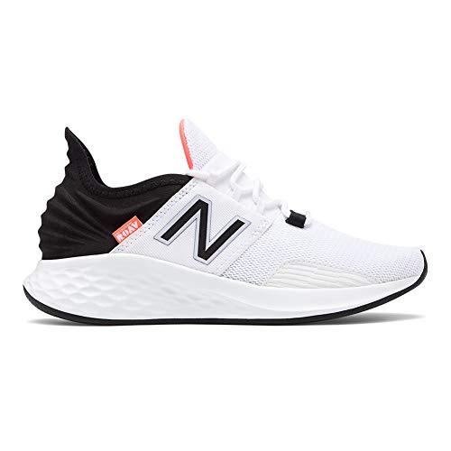 New Balance Women's Roav V1 Fresh Foam Running Shoe, White/Black/Guava, 7.5 B US