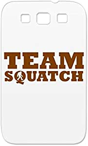Team Squatch Funny Brown Team Squatch Bigfoot Miscellaneous Sasquatch Shatterproof For Sumsang Galaxy S3 Protective Case