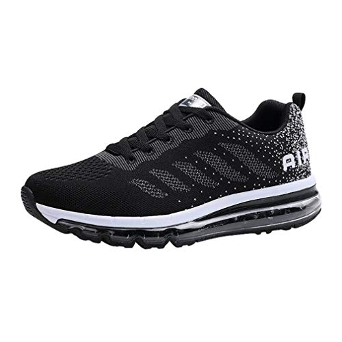 Sport Fitness Running Baskets Gym Noir Homme Respirante Femme Multicolore Air Style Chaussures Hibote Blanc Sneakers qC0TwYR