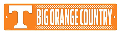 (NCAA Tennessee Volunteers 16-Inch Plastic Street Sign Décor)
