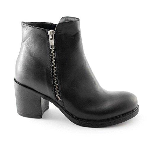 shoes Women's zip double black heeled DIVINE MI2020 Nero FOLLIE boots 1gxg7Utw
