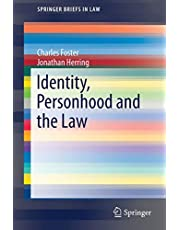 Identity, Personhood and the Law (SpringerBriefs in Law)
