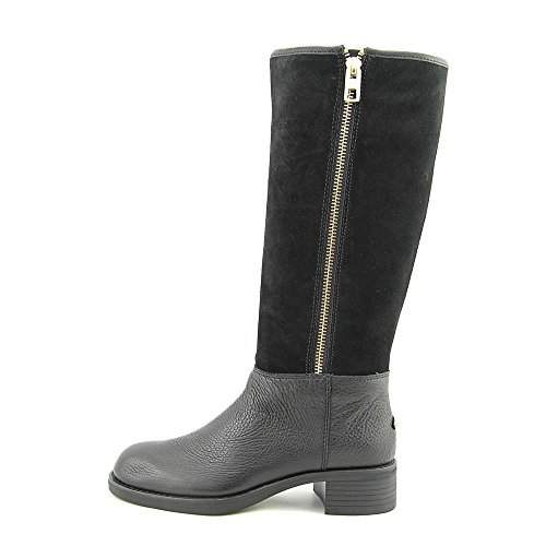 Coach Womens Bailey Safari Black Leather/Shearling Knee-High Boots 10 B(M) US MnBzA14