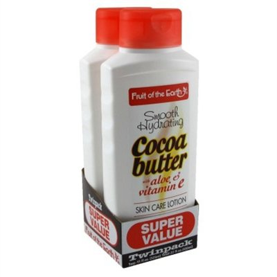 Fruit Of The Earth Bogo Lotion Cocoa Butter With Alo & Vit-E 11 Ounce (325ml) (6 Pack)