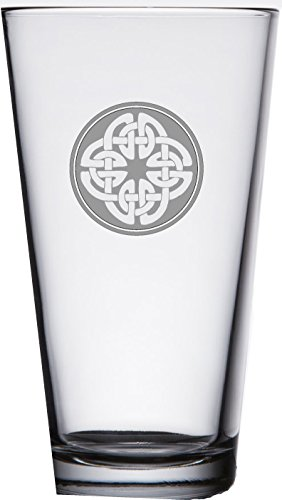 Scottish Beer (IE Laserware Irish Celtic Shield Knot Pub Beer Cocktail Glass 16oz)