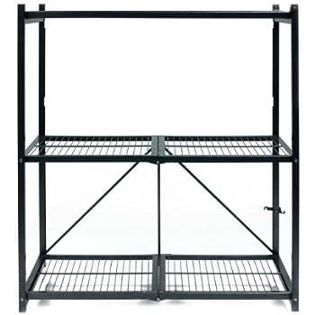Origami R4 01 General Purpose 3 Shelf Steel Collapsable Storage Rack