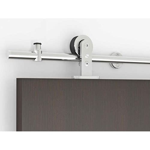 Outlet Contemporary Stainless Steel Sliding Barn Door Hardware For Wood  Doors / Polished Chrome Finish