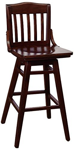 Beechwood Mountain BSD-2Bsw-W Solid Beech Wood Swivel bar Stool in Walnut for Kitchen & Dining, NA
