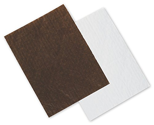 """Food & Gourmet Boxes - Brown/White Reversible Candy Tray Pads, 6 3/16 x 4 5/8"""" (200 Pads) - BOWS-65-C64-PAD"""