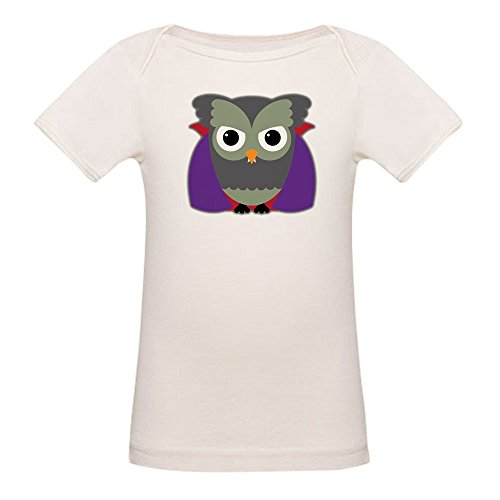 Truly Teague Organic Baby T-Shirt Spooky Little Owl Vampire Monster - 18 to 24 -