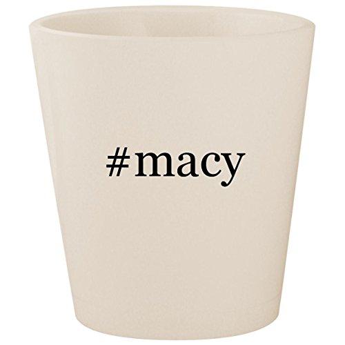 #macy - White Hashtag Ceramic 1.5oz Shot Glass