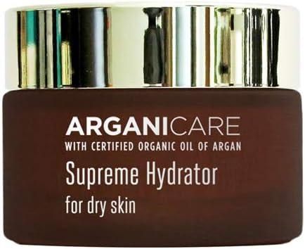 ARGANICARE SKINCARE Crema Hidratanete Piel Seca con Aceite Orgánico de Argán y Aloe Vera puro
