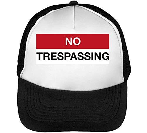 Gorras Blanco Trespassing Negro Hombre Beisbol No Snapback xT5zpwgHn