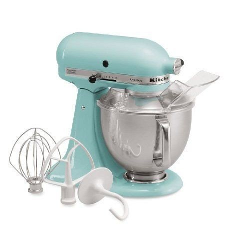 Price comparison product image Stkertools(TM) KitchenAid KSM150PSAQ Stand Mixer, Martha Stewart Blue Artisan 5 Qt. Aqua Sky