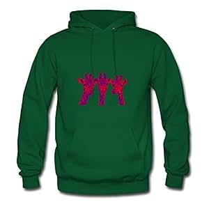 X-large Green Custom Puzzle Giraffes Hoodies By Theresawilkins - Women
