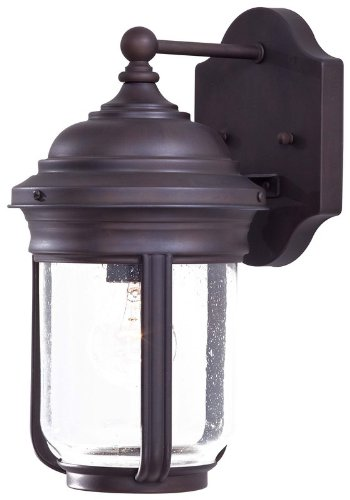 Minka Lavery Outdoor Wall Light 8810-57 Amherst Exterior Wall Lantern, 75 Watts, Bronze