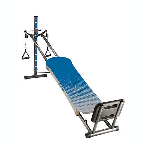 MRT SUPPLY Optima Full Body Workout Home Fitness Folding Exercise Machine, Blue with Ebook
