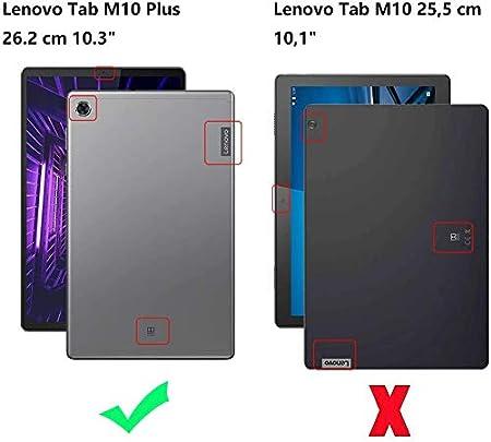 QWERTY Magn/ético Desmontable Inal/ámbrico Bluetooth para Lenovo Tab M10 FHD Plus TB-X606F 10.3 Pulgada Negro RLTech Teclado Funda para Lenovo Tab M10 FHD Plus