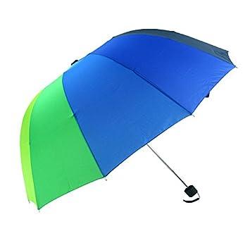 GKRY Paraguas plegables y compacto/Paraguas de Viaje Plegable Clásico Sistema automático de apertura Tela