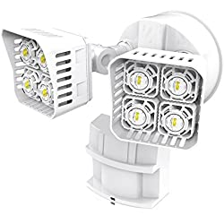 SANSI LED Security Motion Sensor Outdoor Lights, 30W (250W Incandescent Equivalent) 3400lm, 5000K Daylight, Waterproof Flood Light, ETL Listed, White …