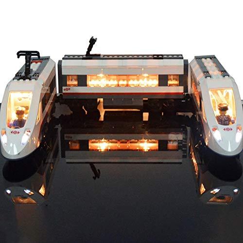 Kit de iluminación LED para LEGO City Tren de pasajeros de alta velocidad 60051 Tren de juguete: Amazon.es: Bebé