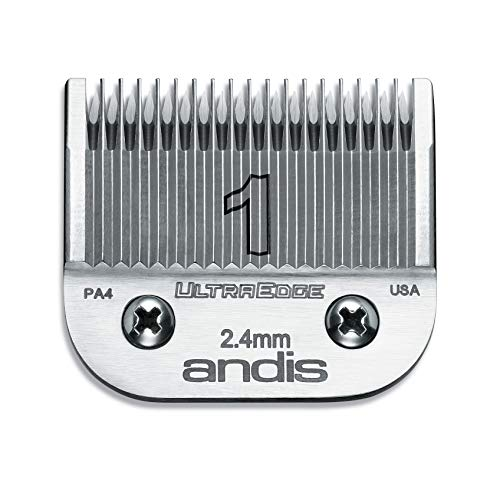 Andis Carbon-Infused Steel UltraEdge Clipper Blade, Size-1, 3/32-Inch Cut Length (64070)