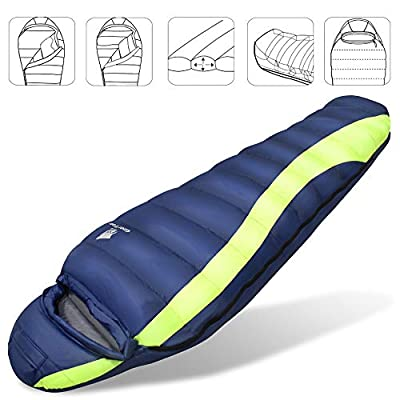 GEERTOP Ultralight Down Hammock Underquilt Mummy Sleeping Bag 23 ℉ to 50 ℉ with Compression Sack for Camping Backpacking Hiking Winter Travel: Sports & Outdoors