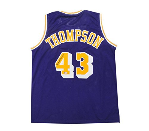 Mychael Thompson Hand Signed Autographed Home Lakers Basketball Jersey Beckett