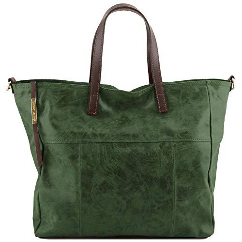 Tuscany Leather Annie - Borsa shopping TL SMART in pelle effetto invecchiato - TL141552 (Verde) Verde