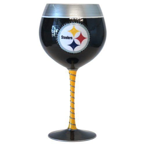 33 Oz Glass (NFL Pittsburgh Steelers Artisan Wine Glass, 33-ounce)