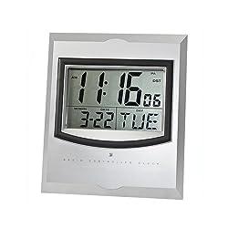 StealStreet 8092 Wall Mount Alarm Clock Displays Time/Date/Day/Temp