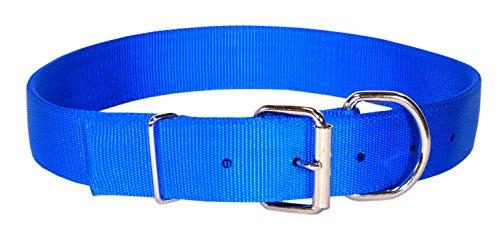 Hamilton Double Nylon Dog Collar - Hamilton Deluxe Double Thick Nylon Dog Collar, 1-3/4 by 24-Inch, Blue