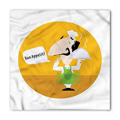 Bon Appetit Bandana, Chef and Speech Bubble, Unisex Head and Neck Tie