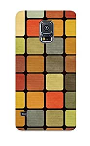 Perfect Fit DRBCNZi4765uQFvX Pastel Squares Case For Galaxy S5 With Appearance