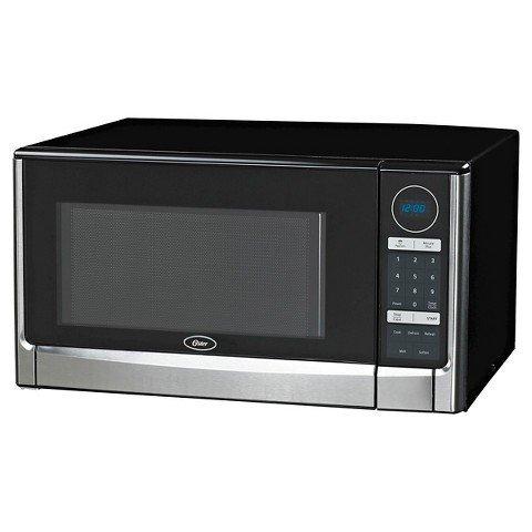 Oster 1.6 Cu. Ft. 1100 watt Digital Microwave Oven-Black & Stainless Steel