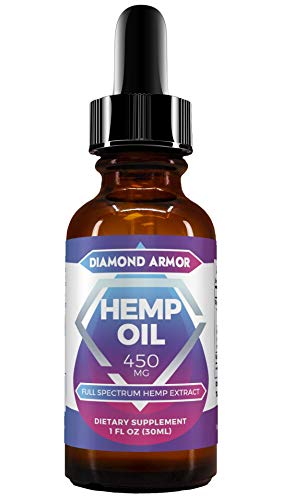 Full Spectrum Hemp Oil Drops - 450mg | Promotes Anxiety Relief, Reduces Stress & Chronic Pain, Anti-Inflammatory & Sleep Aid with Omega 3, 6 & 9 Oils | Zero THC CBD Cannabidiol - Mint Flavor