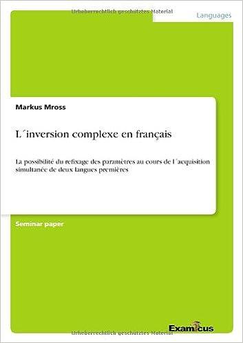 L´inversion complexe en français (French Edition) (French)
