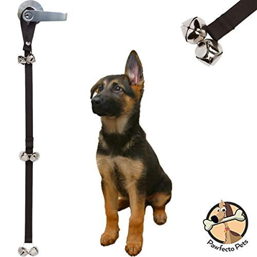 Pawfecto Pets Dog Potty Training Bells for Housebreaking Potty Training Your Puppy - Premium Quality Adjustable Doggie Doorbell ()