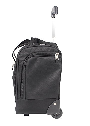 Ciao Carry On Wheeled Under The Seat Bag Black Import It All