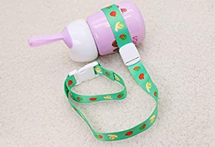 Cute Anti-Drop Toddler Stroller Supplies Toy Feeding Bottle Strap Clip Leash Belt(01) FTVOGUE