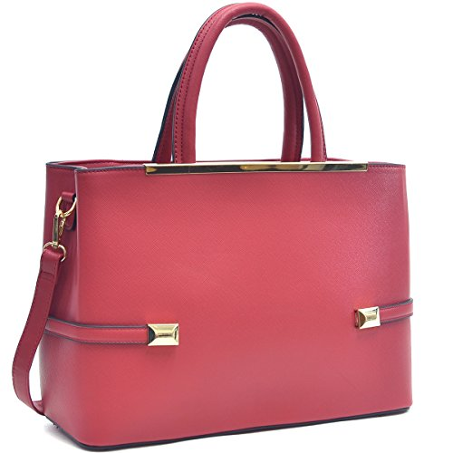 - Women's Fashion Top Handle Handbags Hinged Tote Satchel Purse Work Shoulder Bag (8895 2PCs- Petwer)